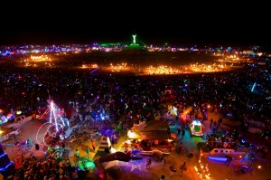 Burning Man-Night-View